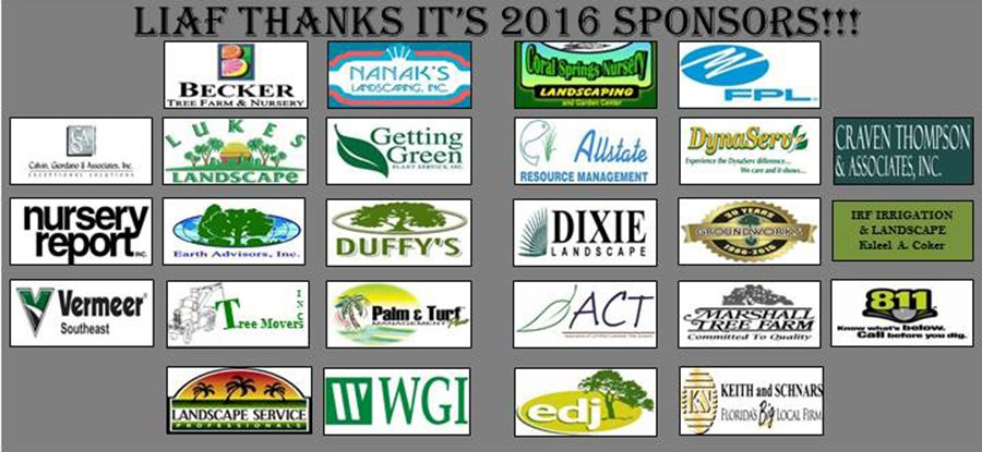LIAF Thanks It's 2016 Sponsors!!!